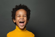 Little Boy Black Child Laughin...