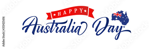 Happy Australia day elegant typography poster Tableau sur Toile