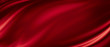 Leinwanddruck Bild - Red luxury fabric background with copy space