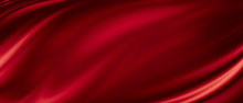 Red Luxury Fabric Background W...