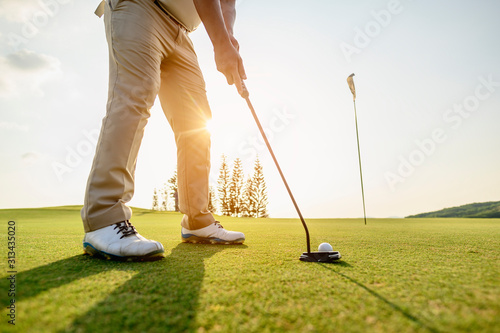 Photo lifestyle, golf, activity, outdoor, sport, golfer concept