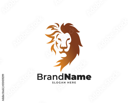 Cuadros en Lienzo lion head logo design vector