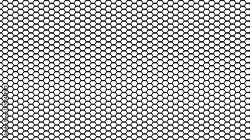 Hexagonal pattern mesh with gradient to imitate depth Fotobehang