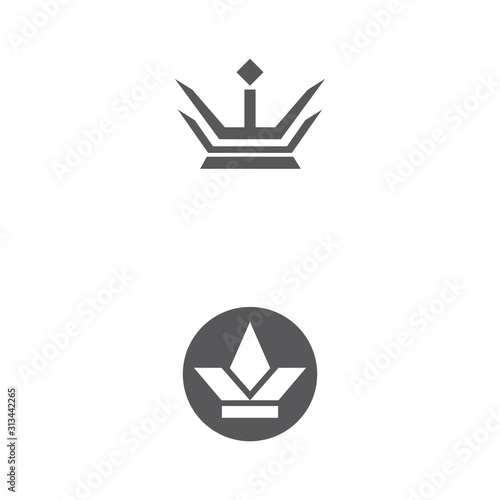 Crown Logo Template vector icon Wallpaper Mural