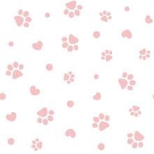 Seamless Pink Pastel Pattern W...