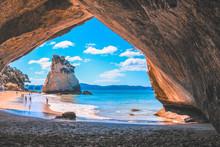 Cathedral Cove On The Coromandel Peninsula, North Island, New Zealand