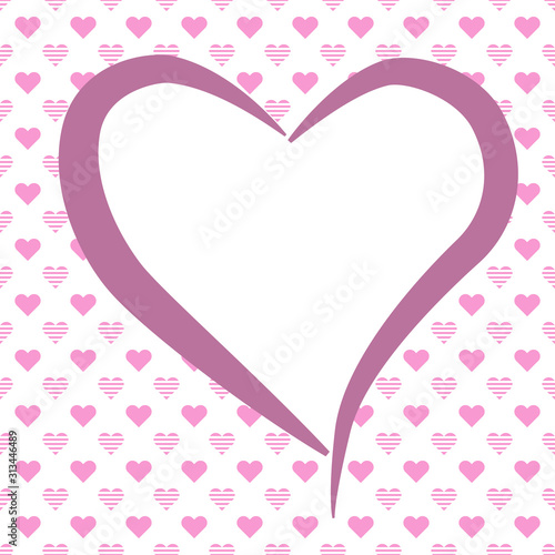 Fond avec cœurs sur le thème de l'amour pour carte de Saint-Valentin, mariage ou Canvas Print