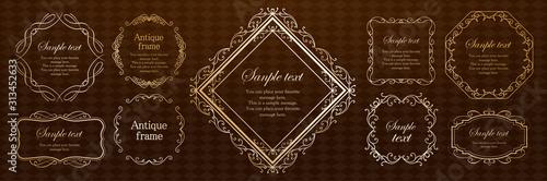 Fototapeta フレーム素材 アンティーク ビンテージ ガーリー ウエディング ラグジュアリー 高級感 豪華 obraz