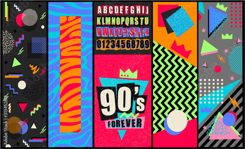 Valokuvatapetti 90s and 80s poster