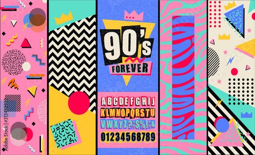 Valokuva 90s and 80s poster