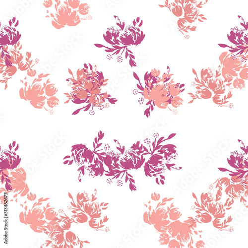 Cuadros en Lienzo  Flower scribble pattern