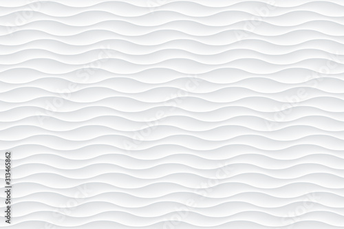Fotografie, Obraz White abstract wavy texture. Seamless modern pattern with waves.
