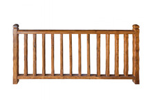 Wooden Railing Isolated On Whi...