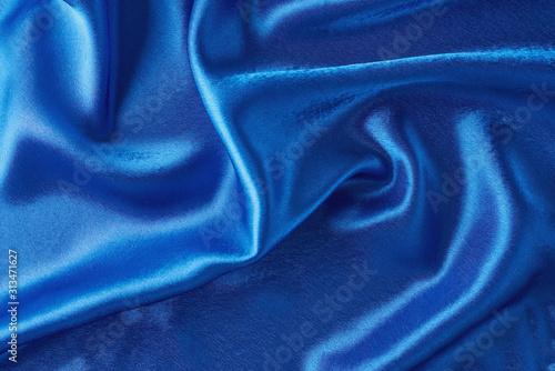 Blue silk background with a folds Tapéta, Fotótapéta