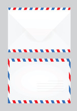 White Closed Post Letter. Vect...