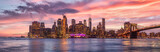 Fototapeta Nowy Jork - new york city skyline travel destination at dramatic sunset over manhatten