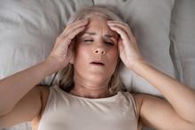 Top View Of Sick Senior Woman ...