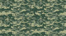 Camouflage Military Texture Background Soldier Repeated Seamless Print Green Pixel