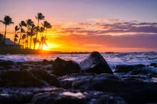 Sunrise Over The Coast Of Kaua...