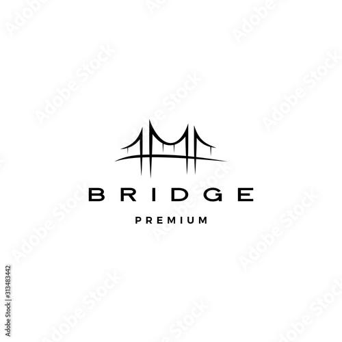 bridge logo vector icon illustration line outline monoline Fototapet