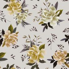 Floral Seamless Gardenia Patte...