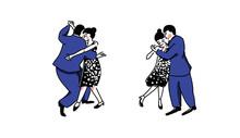 Couple Dancers In Close Embrac...