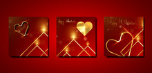 Set Of Valentines Day Square G...
