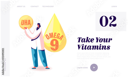 Photo Omega Fat Improve Health from Brain to Heart Website Landing Page