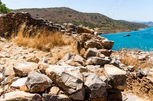 Fotografia Former leprosy Spinalonga fortress, Crete, Greece
