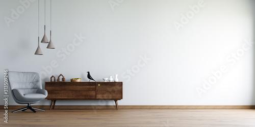 Obraz Interior Wallpaper Mockup - fototapety do salonu