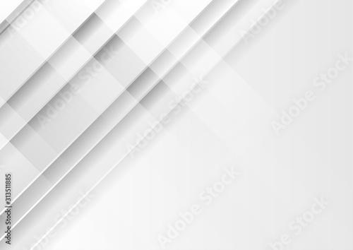 Fotografia  Grey and white tech geometric minimal graphic design