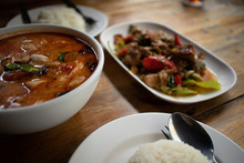 Set Of Simple Thai Spicy Meal ...