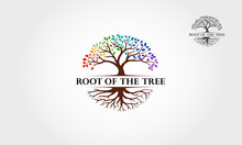 Root Of The Tree Rainbow - Vec...