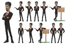 Black Businessman Character Set