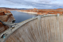 Glen Canyon Dam On Colorado Ri...