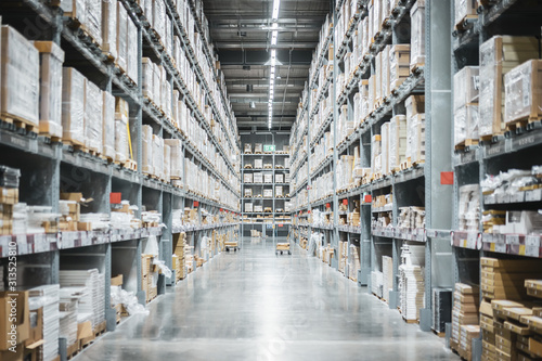 Fototapeta Warehouse or storehouse as background obraz