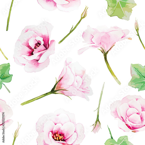 rozowego-lisianthus-kwiatu-bezszwowa-deseniowa-tapeta-na-bialym-tle-styl-akwareli