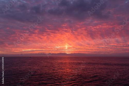 Overcast Sunset 04