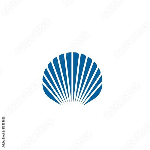 Shell vector icon illustration Fototapete