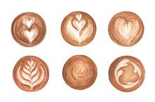 Set Latte Art, Heart Shape, La...
