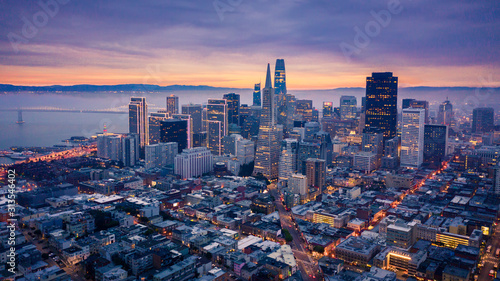 San Francisco Skyline at Dusk Canvas Print