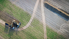 Top View Of The Tractor And Fr...