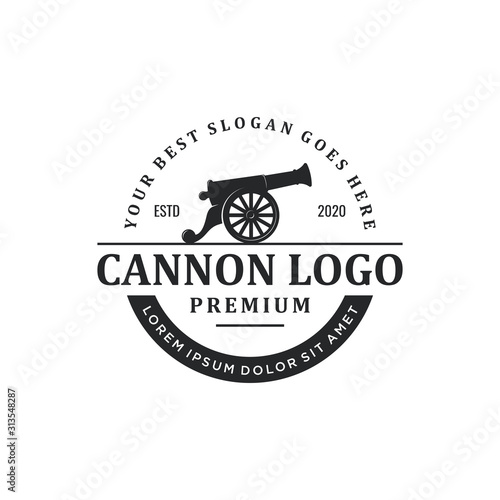 cannon logo design Canvas Print