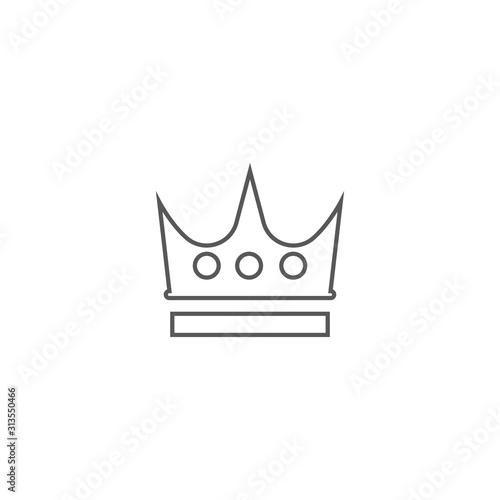 Photo Crown Logo Template vector icon