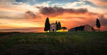 Beautiful Sunset Over Tuscany ...