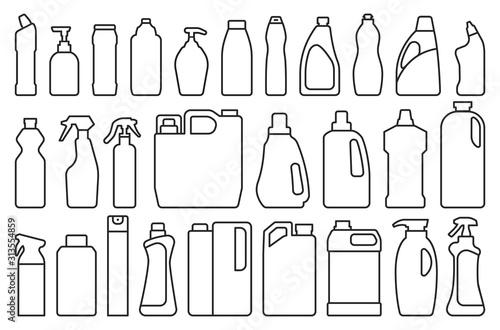 Fotografia Detergent of product line set icon