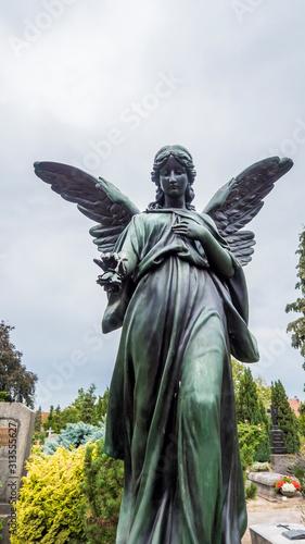 Fototapety, obrazy: Angel statue in the St. John's cemetery in Nuremberg