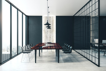 Contemporary meeting room interior