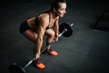 Strong Woman Bodybuilder With ...