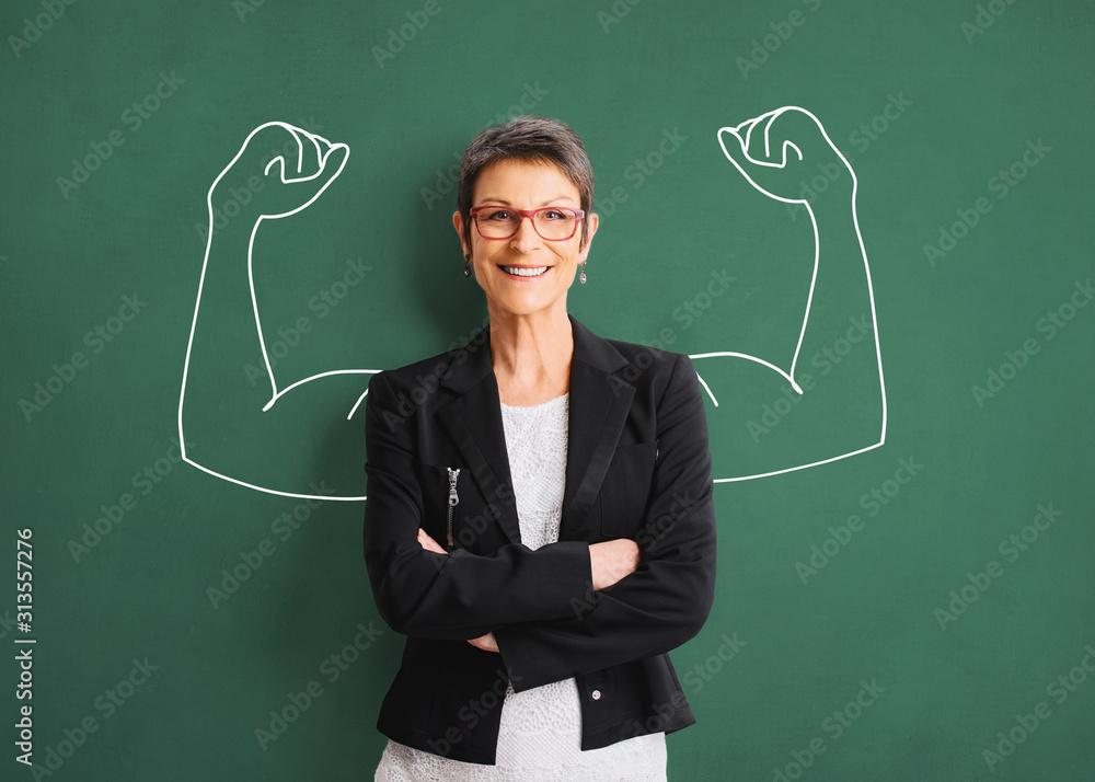 Fototapeta Portrait of a successful, strong business woman